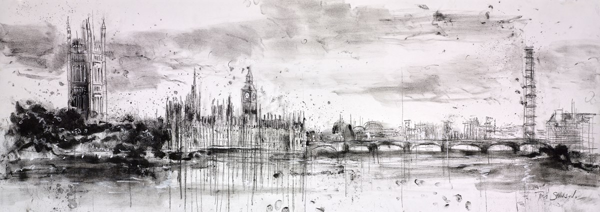 Palace of Westminster III by tim steward -  sized 43x16 inches. Available from Whitewall Galleries
